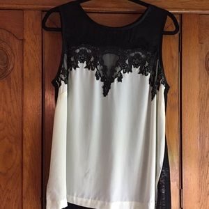 Search for Sanity sleeveless embroidered top
